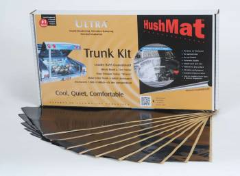 "Hushmat - Hushmat Ultra Trunk Kit Heat and Sound Barrier 12 x 23"" Sheet 1/8"" Thick Rubber - Black"