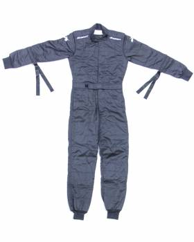 Impact - Impact Quarter Midget/Junior Drag Firesuit - Black - Youth X-Large