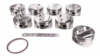 "JE Pistons - JE Pistons Small Block Dome Piston Forged 4.125"" Bore 1/16 x 1/16 x 3/16"" Ring Grooves - Plus 5.6 cc"
