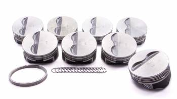 """KB Performance Pistons - KB Pistons Performance Claimer Performance Series - SB Chevy 350 - 6.0"""" Rod Length, 4.060"""" Bore Size, Flat Top w/ 2 Reliefs"""
