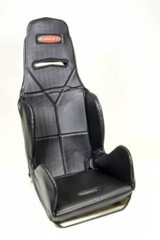 Kirkey Racing Fabrication - Kirkey Economy Drag Seat Cover - Black Vinyl - 17""