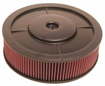 "K&N Filters - K&N Flow Control Air Cleaner - Drop Base - Plastic - Black - 14"" x 4"" - 5/18"" Carb Flange w/ Milled Off Choke Tower"