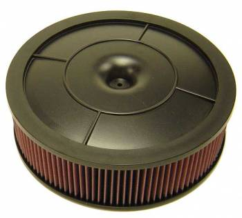 "K&N Filters - K&N Flow Control Air Cleaner - Drop Base - Plastic - Black - 14"" x 4"" - 5-1/8"" Carb Flange w/ Choke Tower"