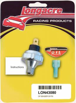 "Longacre Racing Products - Longacre 20 PSI Oil Pressure 1/8"" NPT Sender Only"