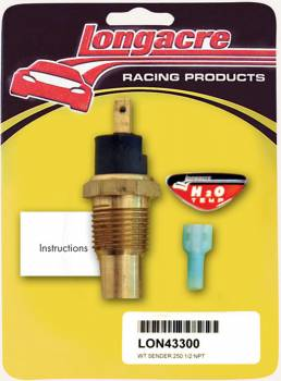 "Longacre Racing Products - Longacre 250° Water Temp-1/2"" NPT Sender Only"