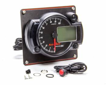 Longacre Racing Products - Longacre Tach 4in Data Logging Blk w/Blk Alum Panel