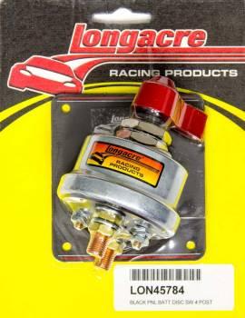 Longacre Racing Products - Longacre Battery Disconnect Panel Black 4 Post