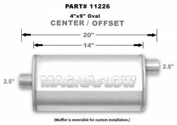 Magnaflow Performance Exhaust - Magnaflow Stainless Steel Muffler - 4 x 9 in. Oval Body