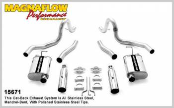 Magnaflow Performance Exhaust - Magnaflow Stainless Steel Cat-Back Performance Exhaust System - 4 x 9 x 14 in. Muffler