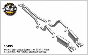 Magnaflow Performance Exhaust - MagnaFlow Chevrolet Corvette Stainless Cat-Back System Performance Exhaust, Quad Center Rear Exit