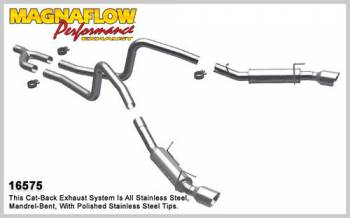 Magnaflow Performance Exhaust - Magnaflow Magnapack Stainless Steel Cat-Back Performance System - 2.5 in. Tube