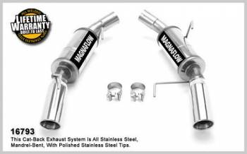 Magnaflow Performance Exhaust - Magnaflow Stainless Steel Axle-Back System 4 in. Round Dual Mufflers