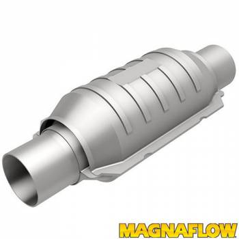 "Magnaflow Performance Exhaust - Magnaflow Performance Exhaust Heavy Metal Catalytic Converter 2-1/4"" Inlet/Outlet 5-1/8 x 9"" Case 13"" Long - Stainless"