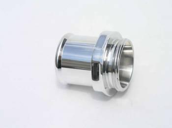 """Meziere Enterprises - Meziere 1.50"""" Hose Water Neck Fitting - Polished"""