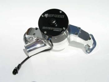 Meziere Enterprises - Meziere BB Chevy Billet Electric Water Pump - Hi-Flow - Polished