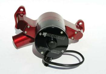 Meziere Enterprises - Meziere SB Chevy Billet Electric Water Pump - Hi-Flow - Red
