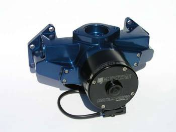 Meziere Enterprises - Meziere BB Chrysler Billet Electric Water Pump - Hi-Flow - Blue
