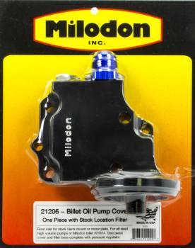 Milodon - Milodon Billet Oil Pump Cover & Filter Boss - Hemi