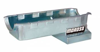 Moroso Performance Products - Moroso BB Chevy Gen IV Steel Oil Pan - 6 Qt.