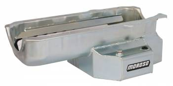 """Moroso Performance Products - Moroso SB Chevy Stage I """"SC Series"""" Oil Pan - Painted Steel - Pre-1980 Blocks w/ 2-Piece Rear Main Seal"""