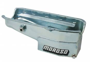 """Moroso Performance Products - Moroso SB Chevy Oil Pan - LH Dipstick - w/ 1"""" Inspection Bung"""