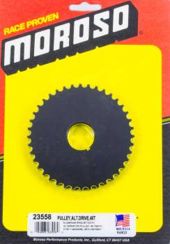 Moroso Performance Products - Moroso Alternator Drive Pulley 40T- Radius Tooth