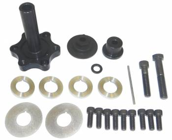 """Moroso Performance Products - Moroso Performance Products 4"""" Long Mandrel Crank Mandrel Drive Kit Guides/Hardware/Spacers Aluminum Black Anodize - Small Block Chevy"""