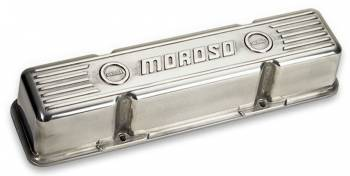 Moroso Performance Products - Moroso Die-Cast Aluminum Valve Covers - Polished - SB Chevy - Tall Design