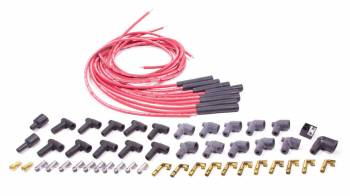 Moroso Performance Products - Moroso Blue Max Spiral Core Universal Ignition Wire Set - 8 Cylinder Engines - 8 Cylinder Engines - Plug Terminals/Boots: Straight; Dist - Terminals/Boots: HEI & Non-HEI; Wire Color: Red