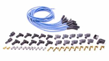Moroso Performance Products - Moroso Blue Max Spiral Core Universal Ignition Wire Set - 8 Cylinder Engines - Plug Terminals/Boots: 135°; Dist - Terminals/Boots: HEI & Non-HEI; Wire Color: Blue