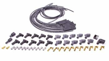 Moroso Performance Products - Moroso Blue Max Spiral Core Universal Ignition Wire Set - 8 Cylinder Engines - Plug Terminals/Boots: Straight; Dist - Terminals/Boots: HEI & Non-HEI; Wire Color: Black
