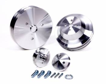 March Performance - March Performance SB Chevy Pulley Set 2 Groove Low er/Upper 1 Groove Alternator
