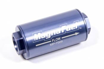 MagnaFuel - MagnaFuel Inline Fuel Filter 74 Micron Stainless Element 10 AN Male Inlet/Outlet - Aluminum