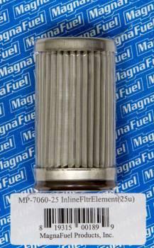 MagnaFuel - MagnaFuel 25 Micron Fuel Filter Element Stainless Element - Magnafuel Inline Fuel Filters