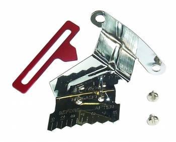 "Mr. Gasket - Mr. Gasket Timing Tab - Steel - Chrome, Red - 8"" Balancer - SB Chevy"