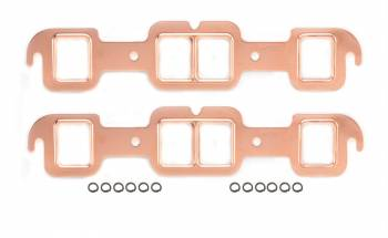 Mr. Gasket - Mr. Gasket Copperseal Exhaust Gasket Set - Port Dimensions: Width: 1.55 in. x Height: 1.92 in.