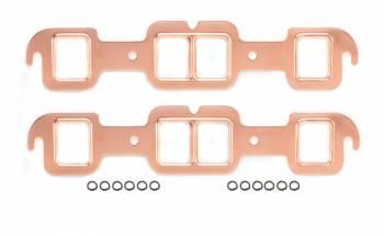 Mr. Gasket - Mr. Gasket Copperseal Exhaust Gasket Set - Port Dimensions: Width: 1.55 in. x Height: 1.92 in.