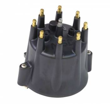 MSD - MSD Black HEI Distributor Cap for Chevy V8 w/ Retainer