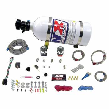Nitrous Express - Nitrous Express Stage One EFI Nitrous System w/ 10 lb. Bottle and Brackets