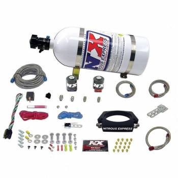 Nitrous Express - Nitrous Express (NX) LS 102mm Plate Nitrous System with 10lb Bottle