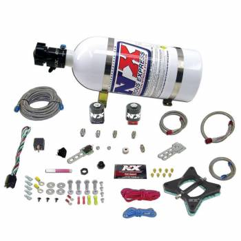 Nitrous Express - Nitrous Express Ford 4.6L Plate - Nitrous System w/ 10 lb. Bottle and Brackets