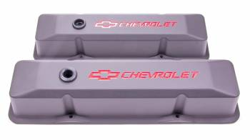 Proform Parts - Proform Die-Cast Valve Covers - Bow Tie Emblem - Black Crinkle