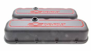Proform Performance Parts - Proform Die-Cast Valve Covers - Bow Tie Emblem - Black Crinkle