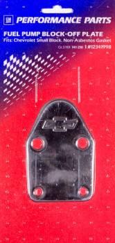 Proform Performance Parts - Proform Fuel Pump Block-Off Plate - Bow Tie Emblem - Small Block Chevy