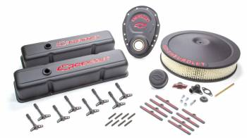 Proform Performance Parts - Proform High-Tech Collector Series Dress-Up Kit - Chevrolet / Bow Tie - Black Crinkle