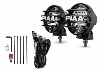"PIAA - PIAA LP 550 Series -Driving Led Light Assembly 7 Watts 2 White LED 5"" Diameter - Surface Mount"