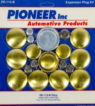 Pioneer Automotive Products - Pioneer 318 Dodge Freeze Plug Kit - Brass
