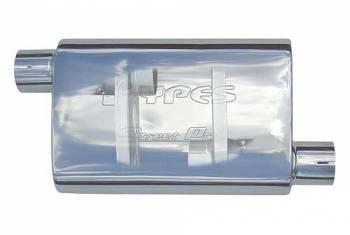 """Pypes Performance Exhaust - Pypes Performance Exhaust Street Muffler 2.5"""" Offset/Center"""