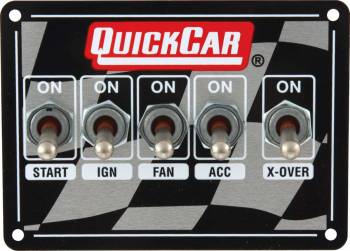 QuickCar Racing Products - QuickCar Dual Ignition Dirt Ignition Control Panel W/ 3 Wheel Brake Switch