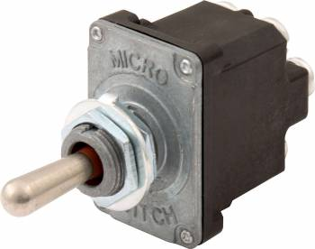 QuickCar Racing Products - QuickCar Momentary/Off/Momentary Weatherproof Toggle Switch -Double Pole - 25 amp - 12V